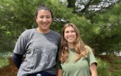 Coordinators Marley Lopez-Paul '21 and Natalia Maidique '21 encourage fellow seniors to sign up for Senior Showdown.