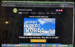 """Staples players poster for their production of """"Words Words Words … and Music."""" There will be three shows taking place May 20-22. You can purchase tickets on the Players website."""