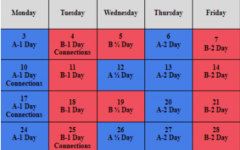 The 2020-2021 current schedule consists of four 80-minute periods per day, as opposed to the pre-pandemic schedule, which will include six 50-minute classes per day.