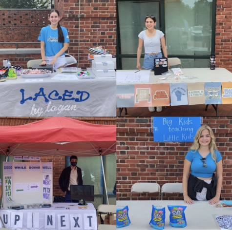Students who participated in the Student Creation Market spent four hours in Bedford Square while advertising their businesses.