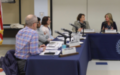 The Westport Board of Education returned to in-person meetings, like the one pictured above from two years ago, for the first time since March of 2020 (reused photo from previous Inklings BOE article).