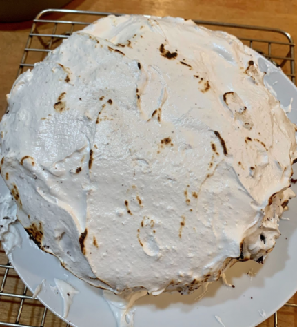 About seven years ago, my grandfather and I made a S'mores layer cake together, so, after not seeing him for nearly 500 days, I wanted to surprise him by baking him that same cake for Father's Day.
