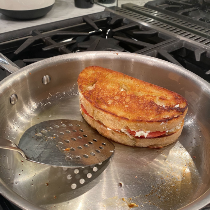 This easily prepared Santorini Grilled Cheese will make anyone's mouth water.