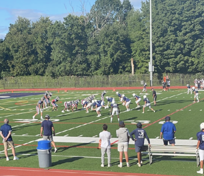 The Wreckers hit the field for the first home scrimmage of the 2021 football season.