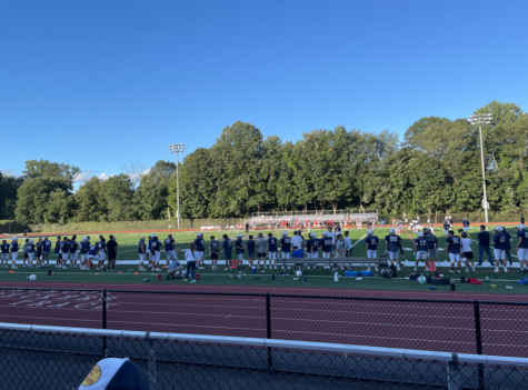 On 9/10, the Staples Wreckers football team took on Trumbull for the home opener football game. They won with a score of 27-20.